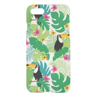 Tropiska blommor & toucan iPhone 7 för rolig iPhone 7 Skal