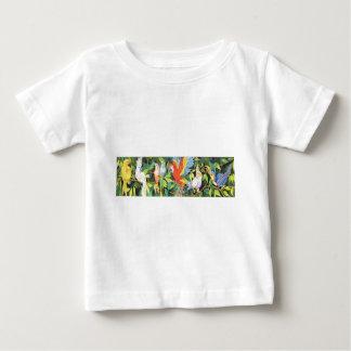 Tropiska fågeldesigner tee shirt