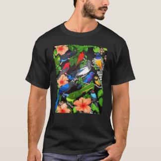 Tropiska fåglar av den Mexico T-tröja Tee Shirts