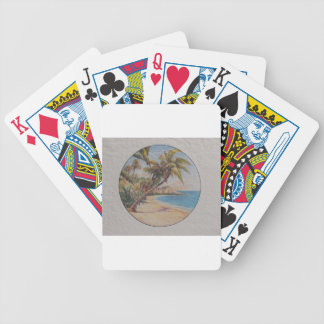 Tropiska handflatan spelkort