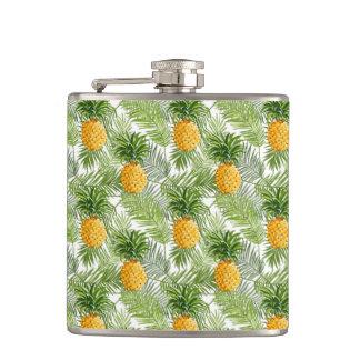 Tropiska handflatanlöv & ananas fickplunta