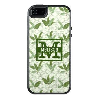 Tropiska handflatanlöv | tillfogar ditt namn OtterBox iPhone 5/5s/SE skal