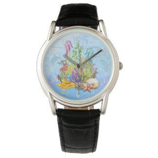 Tropiska havslivblått armbandsur