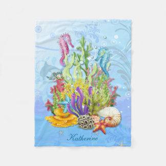 Tropiska havslivblått fleecefilt