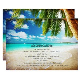 Tropiska kort för boende för östrandbröllop 8,9 x 12,7 cm inbjudningskort