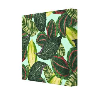 Tropiska löv canvastryck