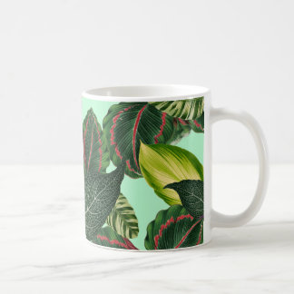 Tropiska löv kaffemugg