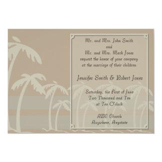 Tropiska palmträd som gifta sig inbjudningar
