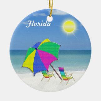 Tropiska Themed julprydnadar från Florida Rund Julgransprydnad I Keramik