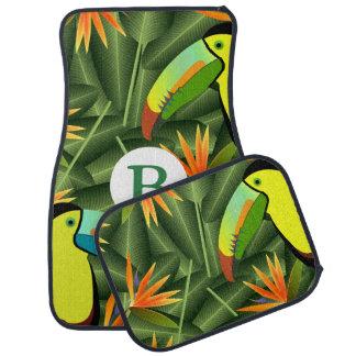 Tropiska Toucan fåglar av paradiset & märka med Bilmatta