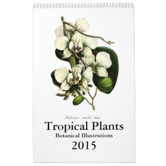 Tropiska växter 2015 kalender
