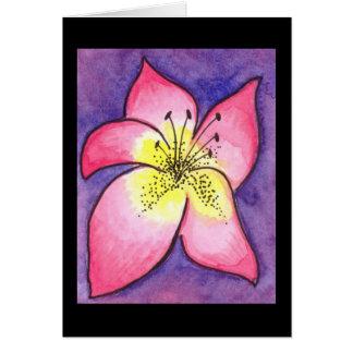 Tropiskt blommakort hälsningskort