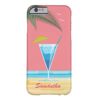 Tropiskt fodral för coctail- & korallhimmeliPhone Barely There iPhone 6 Skal