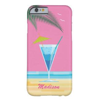 Tropiskt fodral för coctail- & rosahimmeliPhone Barely There iPhone 6 Skal