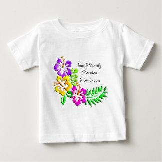 Tropiskt hibiskusmönster tee shirts