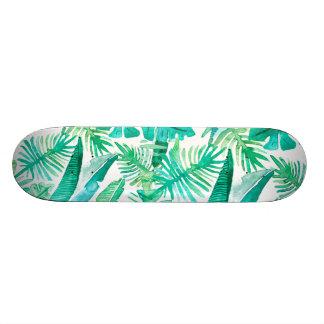 Tropiskt lövdäck vid den Megaflora designen Old School Skateboard Bräda 18 Cm