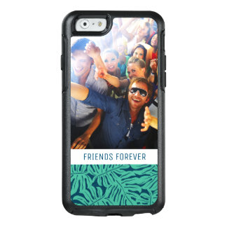 Tropiskt lövmönster | tillfogar din foto & text OtterBox iPhone 6/6s skal