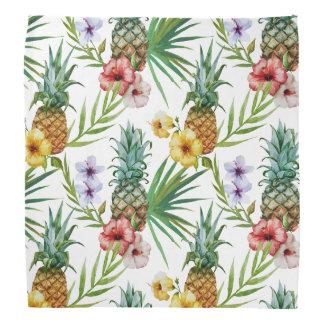 Tropiskt mönster för ananas för hawaii kerchief
