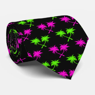 Tropiskt palmträdmönster slips