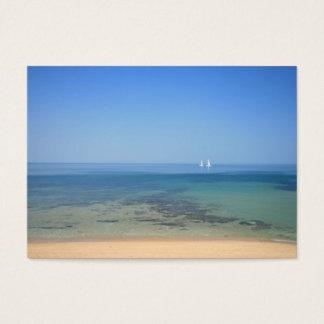 Tropiskt vatten för segelbåtar - presentkort visitkort