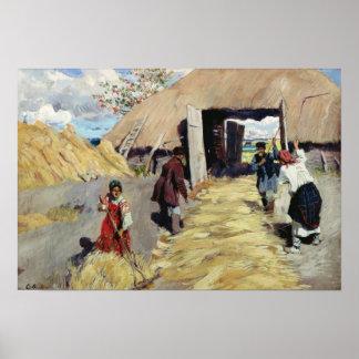 Tröska - golv, 1916 poster
