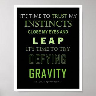 Trotsa gravitationordaffischen poster
