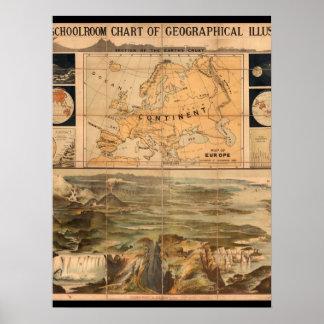 Trött världskarta 8 poster