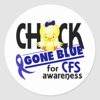 Tröttar ut borta blått för chicken för kronisk CFS Runt Klistermärke