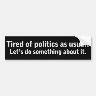 Tröttat av politik som vanligt rösta ut kyrkoherde bildekal