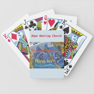 Truckee River Reno Nevada kristen som leker kort Spelkort