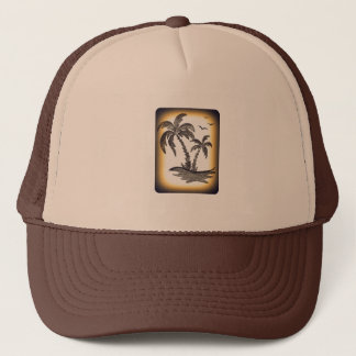 Truckerkeps med palmträd