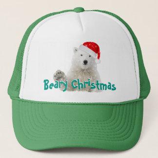 Truckerkepsar för jul för Santa polara björn |