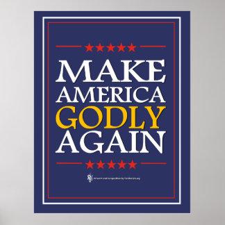 Trumf - affisch: Gör Amerika Godly igen Poster