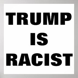 Trumf är den rasistiska affischen poster
