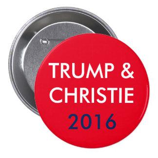 Trumf & Christie 3 flytta sig mycket långsamt Mellanstor Knapp Rund 7.6 Cm
