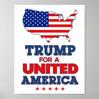 Trumf för en enig Amerika affisch med flagga