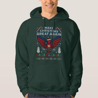 Trumf gör jul den underbara igen fula tröjan hoodie