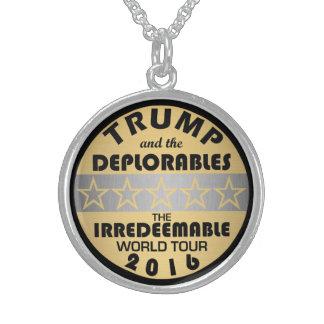 Trumf och Deplorables den unika gåvan för henne Sterling Silver Halsband