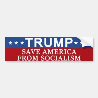 Trumf sparar Amerika från Socialism Bildekal