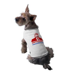 TRUMFANTICHRIST för den PRESIDENThund tröja 2016 Långärmad Hundtöja