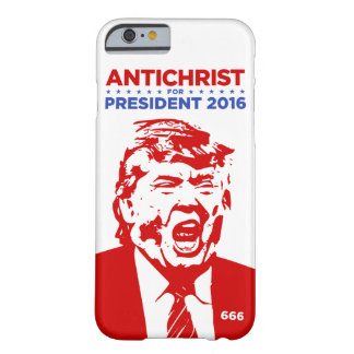TRUMFANTICHRIST för den PRESIDENTiphone case 2016 Barely There iPhone 6 Fodral