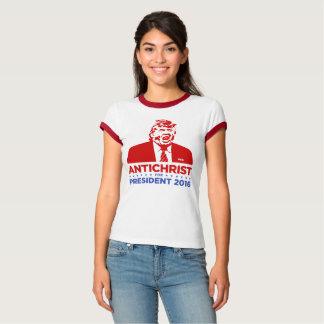 TRUMFANTICHRIST för kvinna för PRESIDENT 2016 T Shirts
