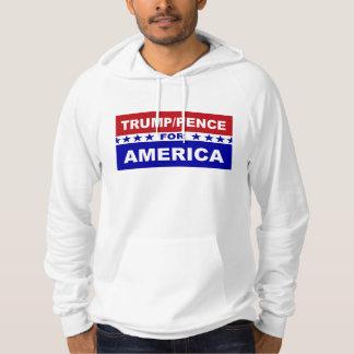 Trumfencentmynt för Amerika röd vit och blått Tröja Med Luva