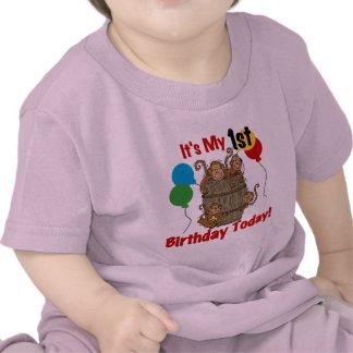 Trumma av den 1st födelsedagen för apor tee