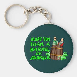 Trumma av munkar rund nyckelring