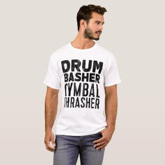 trumma bashercymbalhärmtrasten tee shirt