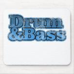 Trumma och bas- blått mus mattor