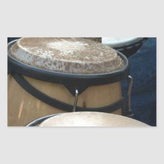 trummar rektangulärt klistermärke