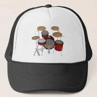 Trummar: Rött trumma satsen: 3D modellerar: Truckerkeps