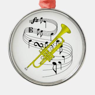 Trumpet Julgransprydnad Metall